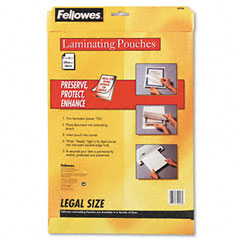 Fellowes 52226 Laminating Pouches, 3 Mil, 14-1/2 X 9, 50/Pack