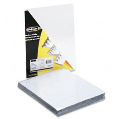 Fellowes - transparent pvc binding system covers, 8-3/4-inch x 11-1/4-inch, clear, 100/pack, sold as 1 pk