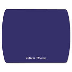 Fellowes - microban ultra thin mouse pad, sapphire blue, sold as 1 ea