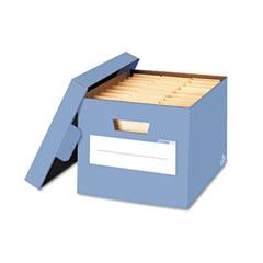Fellowes 6110402 Stor/File Decorative Storage Box, Letter/Legal, Cornflower Blue, 4/Carton