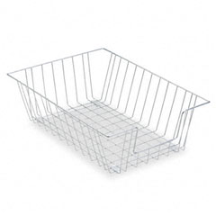 Fellowes - workstation legal size desk tray organizer, single-tier, wire, silver, sold as 1 ea