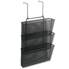 Fellowes 75901 Mesh Partition Additions Three-File Pocket Organizer, 12 5/8 X 16 3/4, Black