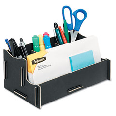 Fellowes 8015201 Earth Series 100% Recycled Organizer, Black