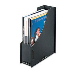 Fellowes 8015801 Recycled Large Magazine File, 12 1/4 X 4 1/2, 10 1/16, Black