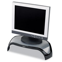 Fellowes 8020101 Smart Suites Corner Monitor Riser, 3 7/8 To 5 1/8 X 18 1/2 X 12 1/2, Black