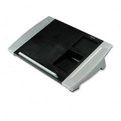 Fellowes - angle-adjustable telephone stand, 15 1/2 x 10 5/8 x 4, black/silver, sold as 1 ea