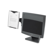 Fellowes - office suites monitor mount copyholder, plastic, holds 150 sheets, black/silver, sold as 1 ea