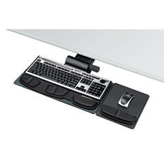 Fellowes - professional premier adjustable keyboard tray, 19 x 10-5/8, black, sold as 1 ea