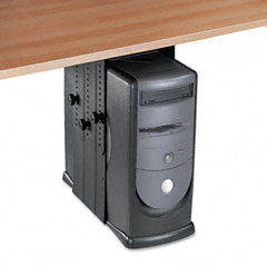 Fellowes - under desk cpu holder, 17w x 12d x 11h, black, sold as 1 ea