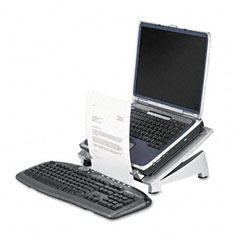 Fellowes - office suites laptop riser plus, copyholder, 15 1/8 x 11 3/8 x 6 1/2, black, sold as 1 ea