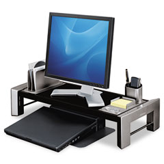Fellowes 8037401 Flat Panel Workstation Shelf, 11 1/2 X 25 7/8 X 9 1/4, Gray Laminate Top