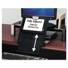 Fellowes - professional series document holder, 7-1/2w x 2-1/2d x 12h, black, sold as 1 ea