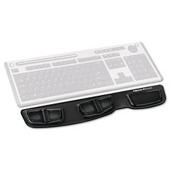 Fellowes - gel keyboard palm support, black, sold as 1 ea