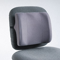 Fellowes - high-profile backrest w/soft brushed cover, 13w x 4d x 12-5/8h, graphite, sold as 1 ea