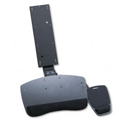 Fellowes FEL93871 Premium Sit/Stand Keyboard Tray, 21 x 12, Black/Gray