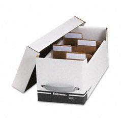 Fellowes - corrugated media file, holds 125 diskettes/35 std. cases, sold as 1 ea