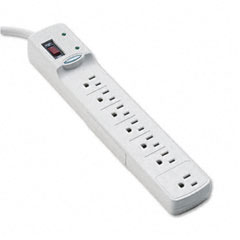Fellowes - advanced computer series surge protector, 7 outlets, 6ft cord, sold as 1 ea