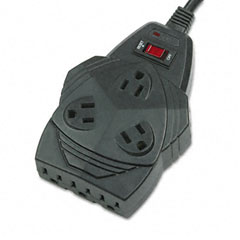 Fellowes - mighty 8 surge protector, 8 outlets, 6ft cord, sold as 1 ea