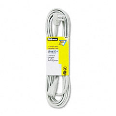 Fellowes 99596 Indoor Heavy-Duty Extension Cord, 3-Prong Plug, 1 Outlet, 15-Ft. Length, Gray