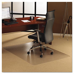 Floortex - polycarbonate chair mat, 48 x 53, clear, sold as 1 ea