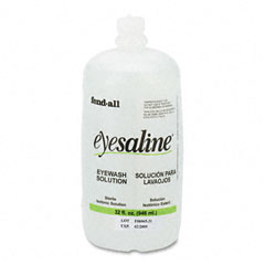 Fendall - eye wash saline solution bottle refill, 32-oz, sold as 1 ea