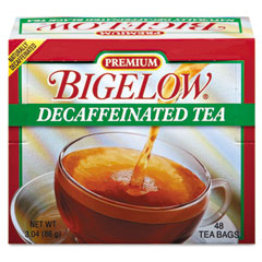 Bigelow 00356 Single Flavor Tea, Decaffeinated Black, 48 Bags/Box