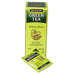 Bigelow 00388 Single Flavor Tea, Green, 28 Bags/Box