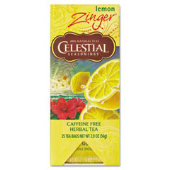 Celestial Seasonings 031010 Tea, Herbal Lemon Zinger, 25/Box