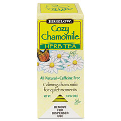 Bigelow 00401 Single Flavor Tea, Cozy Chamomile, 28 Bags/Box