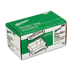 Gbc swingline - personal shredder bags, 100/roll, clear, sold as 1 bx