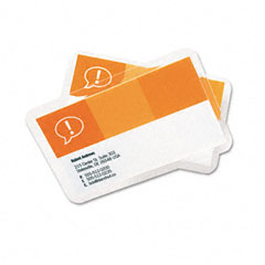 Gbc Quartet 3202000 Heatseal Laminating Pouches, 5 Mil, 2-3/16 X 3-11/16, Business Card Size, 25
