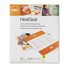 Gbc Quartet 3745690 Heatseal Laminating Pouches, 3 Mil, 9 X 11-1/2, 50/Box