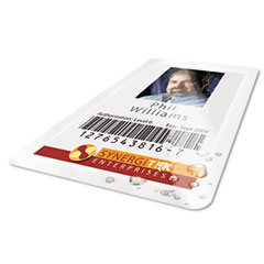 Gbc - heatseal thermal laminating pouch, 5 mil, 2-9/16 x 3-3/4, id size, 100, sold as 1 bx