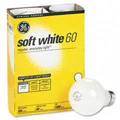 General Electric 41028 Incandescent Globe Bulbs, 60 Watts, 4/Pack
