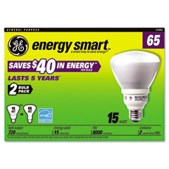 General Electric 72984 Compact Fluorescent Bulb, 15 Watt, R30 Reflector, Soft White