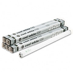 Ge - 24-inch fluorescent tubes, 20 watts, 6/pack, sold as 1 pk