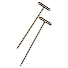 "Advantus 87T T-Pins, Steel, Silver, 1 1/2"", 100/Box"