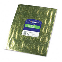 "Geographics 20014 Gold Foil Embossed ""Official Seal Of Excellence"" Seals, 100/Pack"