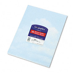 Geographics 46887 Design Paper, 24 Lbs., Clouds, 8-1/2 X 11, Blue/White, 100/Pack