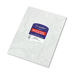 Geographics 39017 Design Paper, 24 Lbs., Marble, 8-1/2 X 11, Gray, 100/Pack