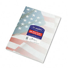 Geographics 46880 Design Paper, 24 Lbs., Flag, 8-1/2 X 11, Blue/Red/White, 100/Pack