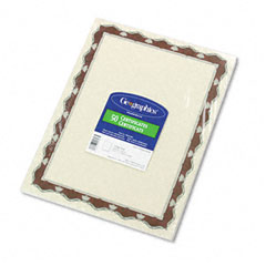Geographics - parchment paper certificates, 8-1/2 x 11, red crown border, 50/pack, sold as 1 pk