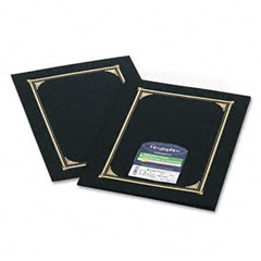 Geographics - certificate/document cover, 12-1/2 x 9-3/4, black, 6/pack, sold as 1 pk