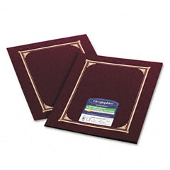 Geographics 45333 Certificate/Document Cover, 12-1/2 X 9-3/4, Burgundy, 6/Pack