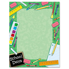 Geographics 46896 Design Paper, 24 Lbs., School, 8-1/2 X 11, Natural, 100/Pack