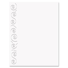 Geographics 47368 Design Paper, 24 Lbs., Swirl, 8-1/2 X 11, White, 40/Pack