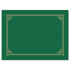 Geographics - certificate/document cover, 12-1/2 x 9-3/4, green, 6/pack, sold as 1 pk