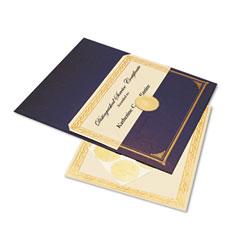 Geographics 47482 Ivory/Gold Foil Embossed Award Certificate Kit, Gray Metallic Cover, Ltr, 6/Pack