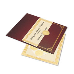 Geographics 47483 Ivory/Gold Foil Embossed Award Cert. Kit, Bronze Cover, 8-1/2 X 11, 6/Pk.
