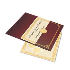 Geographics 47483 Ivory/Gold Foil Embossed Award Cert. Kit, Bronze Cover, 8-1/2 X 11, 6/Pk.